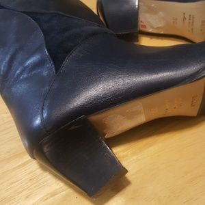 NWT / vintage BALLY black leather & suede boots